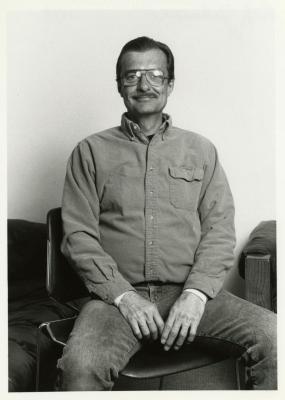 Rich Johnson, seated portrait