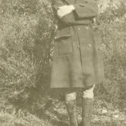 Clarence E. Godshalk, dressed for work