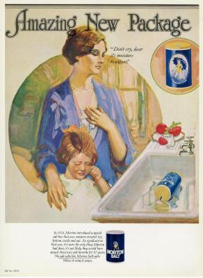 Morton Salt ad no. 6814, Amazing New Package