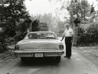 Walter Eickhorst, at old Thornhill entrance gates