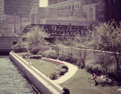 Chicago River Garden, between Randolph and Washington St.