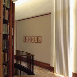 Sterling Morton Library, Reading Room, north wall and stairwell from east side