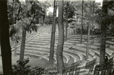 Swarthmore College Amphitheater, where Clarence Godshalk received his Arthur Hoyt Scott Medal