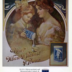 Morton Salt ad no. 6812, Now When It Rains It Pours