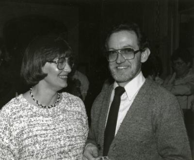 Clarence E. Godshalk's 90th birthday celebration scrapbook: Lynne and Joe Larkin