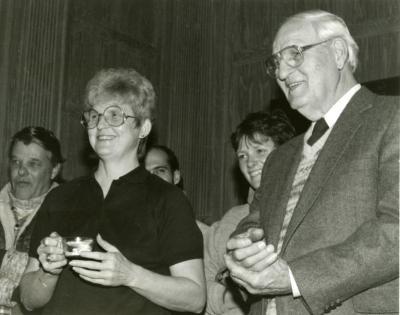 Clarence E. Godshalk's 90th birthday celebration scrapbook: Nancy and Walter Eickhorst