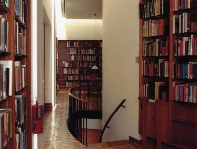 Sterling Morton Library, Reading Room, stairwell from west