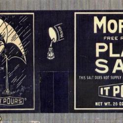 Photograph of Morton Salt canister label (1914)