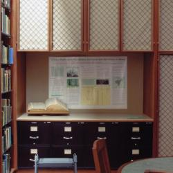 Sterling Morton Library, Reading Room, southwest corner with vertical files