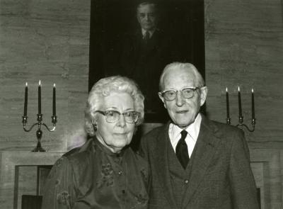 Clarence E. Godshalk's 90th birthday celebration scrapbook: Margaret and Clarence Godshalk