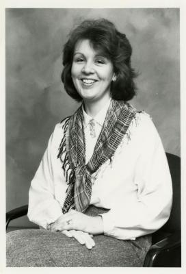 Susan Klatt, seated portrait
