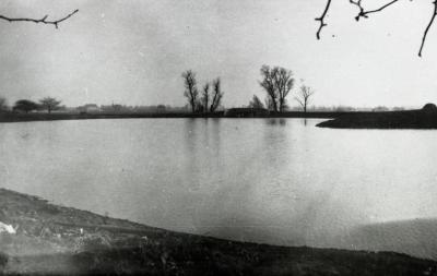 Lake Marmo, looking east toward bridge and dam