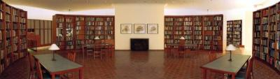Reading Room of the Sterling Morton Library, panorama