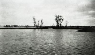 Lake Marmo bridge and dam looking toward South Farm