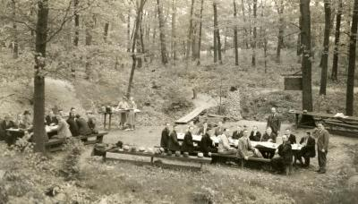 First picnic area - located in the woods 500 ft north of Lake Marmo