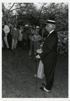 Twilight Tree Walk , Craig Johnson dressed as Joy Morton with crowd
