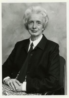 Helen Langrill, seated portrait