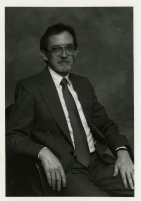 Joe Larkin, seated portrait