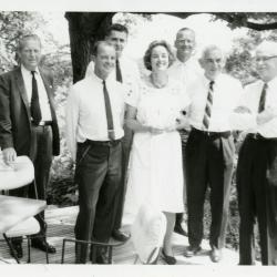 Suzette Morton Davidson with Board of Trustees