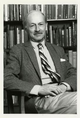 Ian MacPhail, portrait in the Library