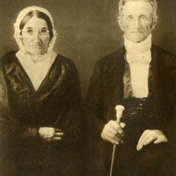 Abner Morton & wife, grandparents of J. Sterling Morton