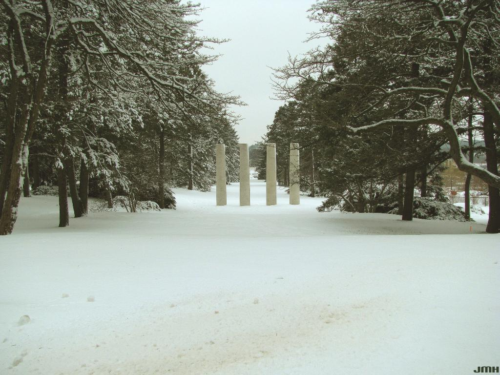 Four Columns in Winter