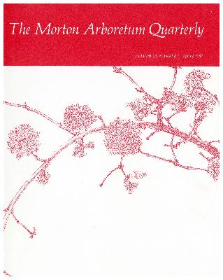 The Morton Arboretum Quarterly V. 23 No. 01