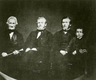 Four generations of Morton men