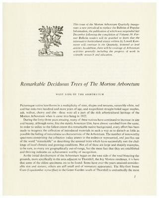 Remarkable Deciduous Trees of The Morton Arboretum: West Side of the Arboretum