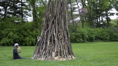 "Nature Unframed: Art at The Arboretum, ""Purification"" demonstration"