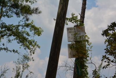 Private drive signage, Jasper County, Mississippi