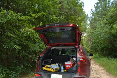 Field collecting vehicle, 2015 APGA/USFS Quercus oglethorpensis project