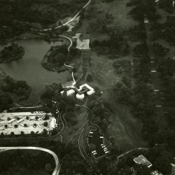 Aerial view of Visitor Center & proposed path from Administration Bldg.