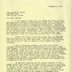 1940/02/08: Clarence E. Godshalk to Jean M. Cudahy