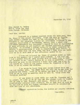 1940/09/10: Clarence E. Godshalk to Jean M. Cudahy
