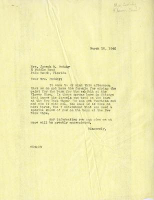 1940/03/18: Clarence E. Godshalk to Jean M. Cudahy