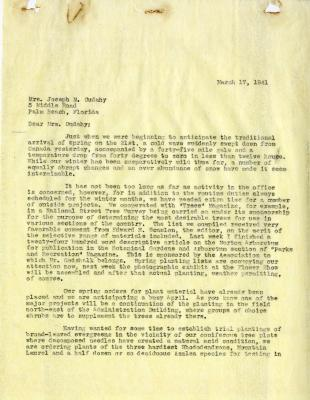 1941/03/17: E. L. Kammerer to Jean M. Cudahy