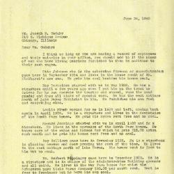 1940/06/24: Clarence E. Godshalk to Joseph M. Cudahy