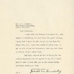 1940/11/12: Joseph M. Cudahy to Clarence E. Godshalk