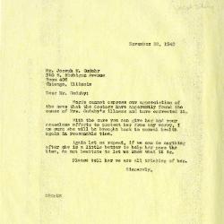 1940/11/22: Clarence E. Godshalk to Joseph M. Cudahy