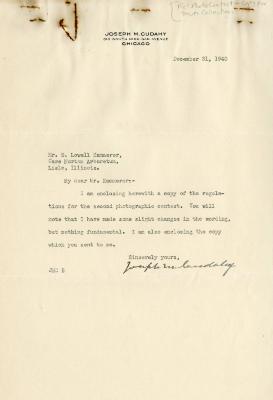 1940/12/31: Joseph M. Cudahy to E. L. Kammerer