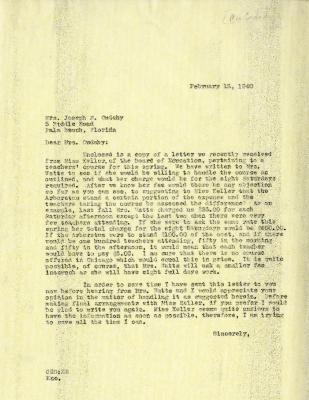 1940/02/15: Clarence E. Godshalk to Jean M. Cudahy