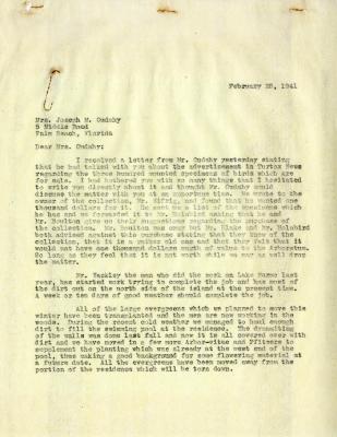 1941/02/28: Clarence E. Godshalk to Jean M. Cudahy