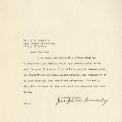 1940/11/11: Joseph M. Cudahy to Clarence E. Godshalk