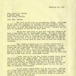 1940/02/29: Clarence E. Godshalk to Jean M. Cudahy