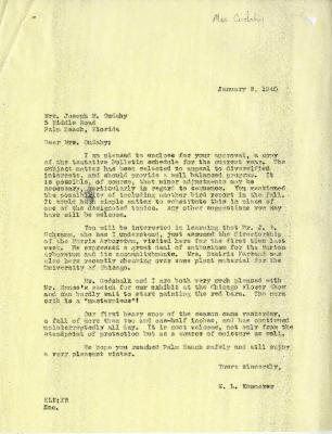 1940/01/08 : E. L. Kammerer to Jean M. Cudahy