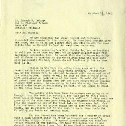 1940/10/17: Clarence E. Godshalk to Joseph M. Cudahy