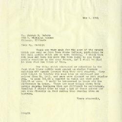 1941/05/01: Clarence E. Godshalk to Joseph M. Cudahy
