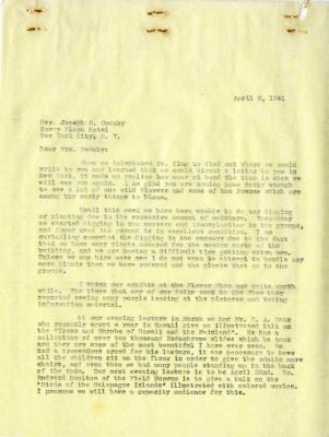 1941/04/08: Clarence E. Godshalk to Jean M. Cudahy