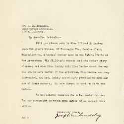 1941/08/04: Joseph M. Cudahy to Clarence E. Godshalk